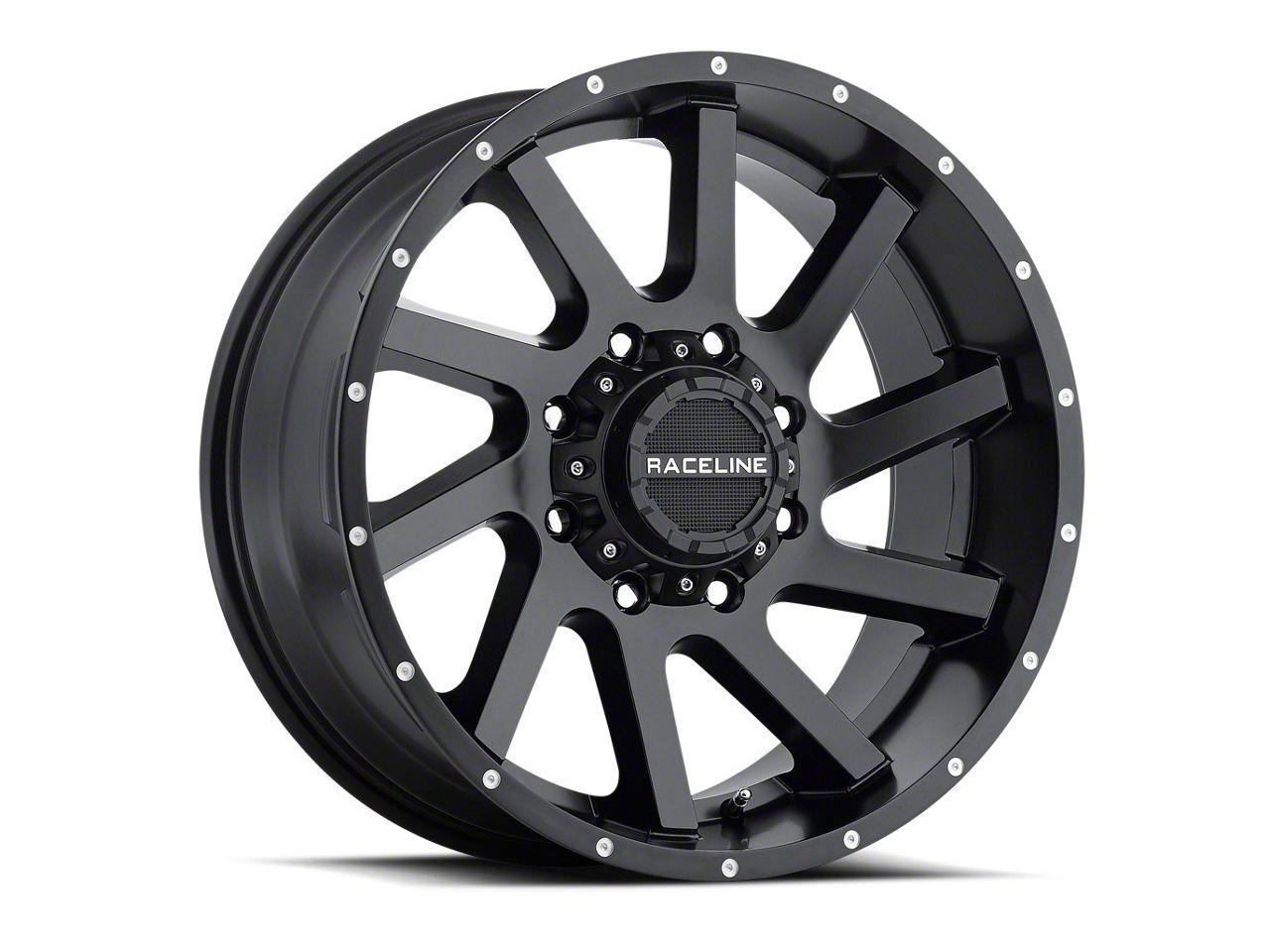 Raceline Twist Black Wheel - 20x9 (07-18 Jeep Wrangler JK)