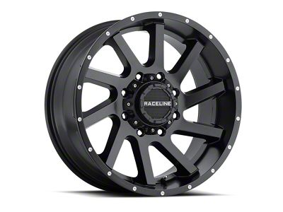 Raceline Twist Black Wheels (07-18 Jeep Wrangler JK; 2018 Jeep Wrangler JL)