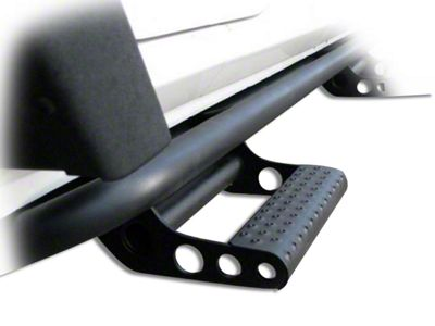 N-Fab Cab Length RKR Side Rails w/ Detachable Steps - Textured Black (07-18 Jeep Wrangler JK 2 Door)