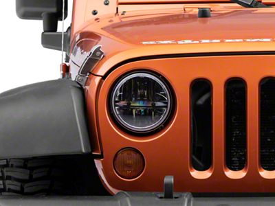 Poison Spyder 7 in. Round LED Headlight (07-18 Jeep Wrangler JK)