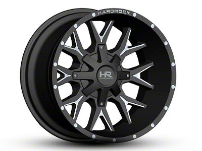 Hardrock Offroad H700 AFFLICTION Black Milled Wheel - 22x10 (07-18 Jeep Wrangler JK)