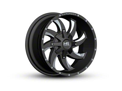 Hardrock Offroad H701 DEVIOUS Black Milled Wheel - 22x10 (07-18 Jeep Wrangler JK)