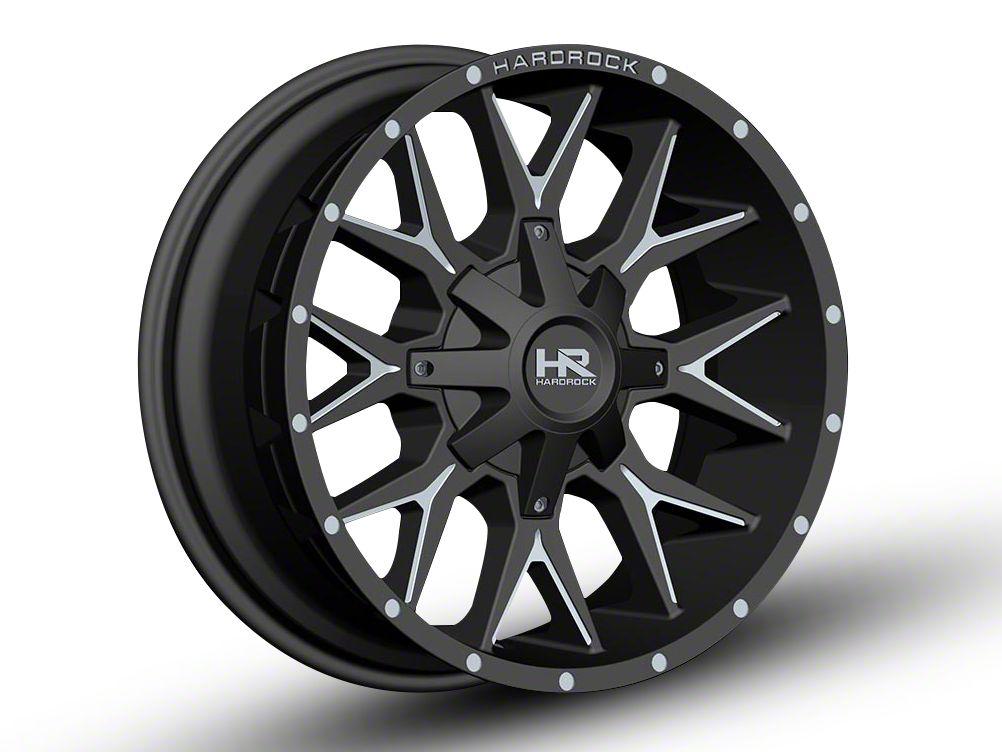 Hardrock Offroad H700 AFFLICTION Black Milled Wheel - 20x9 (07-18 Jeep Wrangler JK)