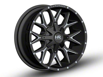 Hardrock Offroad H700 AFFLICTION Black Milled Wheels (07-18 Jeep Wrangler JK)