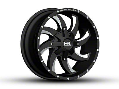 Hardrock Offroad H701 DEVIOUS Black Milled Wheels (07-18 Jeep Wrangler JK)