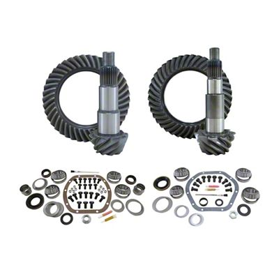 Mammoth Front/Rear Ring and Pinion Gear Kit w/ Master Overhaul Kit - 4.56 Gears (07-18 Jeep Wrangler JK)