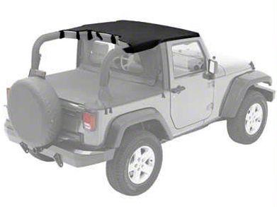 Bestop Targa Style Sun Bikini Top - Black Diamond (07-09 Jeep Wrangler JK 2 Door)