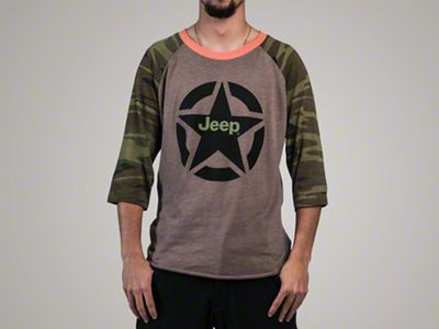 Men's Camo Baseball T-Shirt