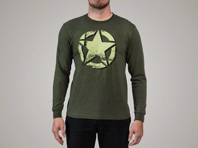 Men's Distressed Star Logo Long Sleeve T-Shirt