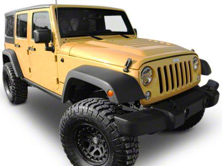 RK Sport Extractor Hood w/ Carbon Fiber Blister - Unpainted (07-12 Jeep Wrangler JK)