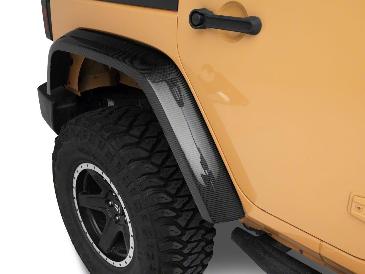 RK Sport Rear Fender Flares - Carbon Fiber (07-18 Jeep Wrangler JK)