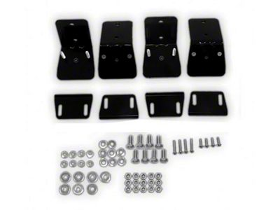 Kargo Master Safari Basket to Factory Luggage Rack Mounting Brackets (87-19 Jeep Wrangler YJ, TJ, JK & JL)
