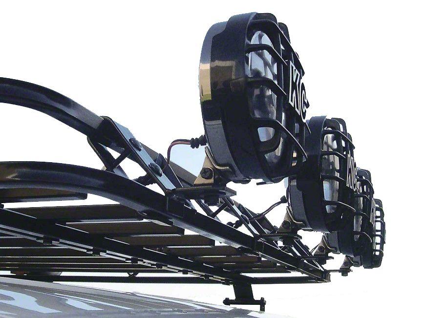 Garvin Front Light Mount Bracket for Sport Series Roof Rack (87-18 Jeep Wrangler YJ, TJ, JK & JL)