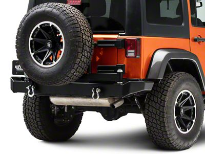 Garvin G2 Series Rear Bumper w/ Tire Carrier (07-18 Jeep Wrangler JK)