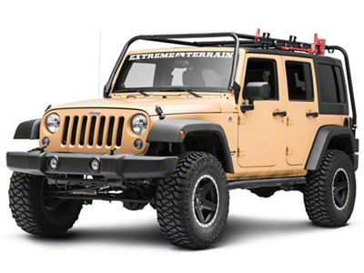 Garvin Hi-Lift Jack Mount for 6 in. High Roof Rack (87-18 Jeep Wrangler YJ, TJ, JK & JL)