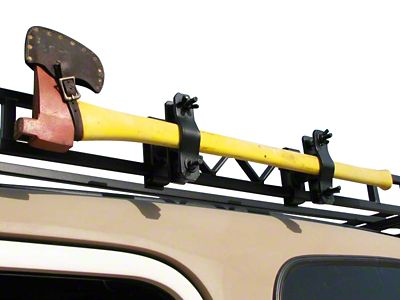 Garvin Single Axe or Shovel Mount for 6 in. High Roof Rack (87-19 Jeep Wrangler YJ, TJ, JK & JL)