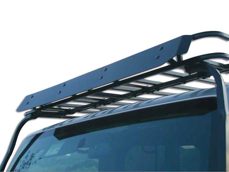 Garvin Wind Deflector for Wide Sports Series Roof Rack (87-18 Jeep Wrangler YJ, TJ, JK & JL)