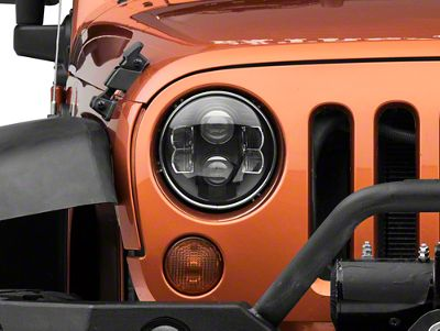 Pro Comp Suspension 7 in. Round LED Headlights (07-18 Jeep Wrangler JK)