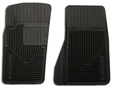 Husky Heavy Duty Front Floor Mats - Black (07-09 Jeep Wrangler JK)