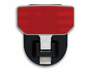Carr HD Hitch Step - Red Reflector (87-18 Jeep Wrangler YJ, TJ, JK & JL)