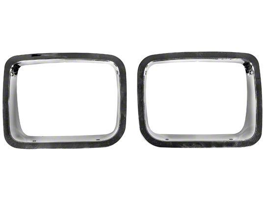 Rugged Ridge Bezel Headlights - Chrome (87-95 Jeep Wrangler YJ)