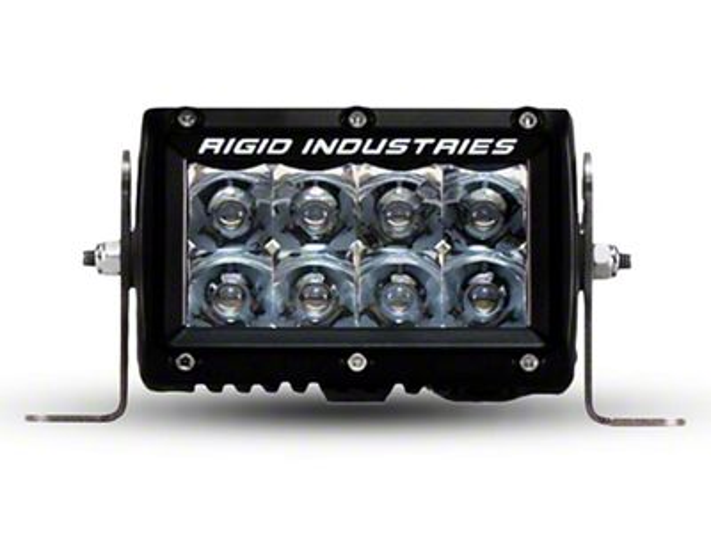 Rigid Industries 4 in. E-Series Amber LED Light Bar - Spot Beam