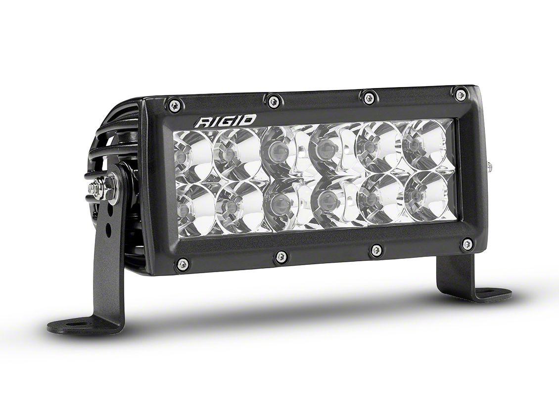 Rigid Industries 6 in. E-Series Amber LED Light Bar - Flood/Spot Beam