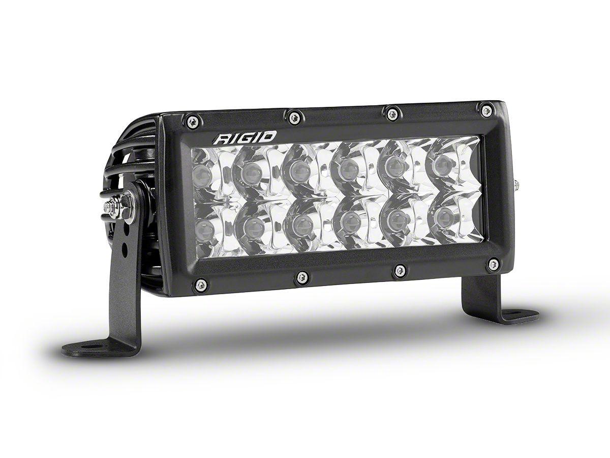 Rigid Industries 6 in. E-Series Amber LED Light Bar - Spot Beam