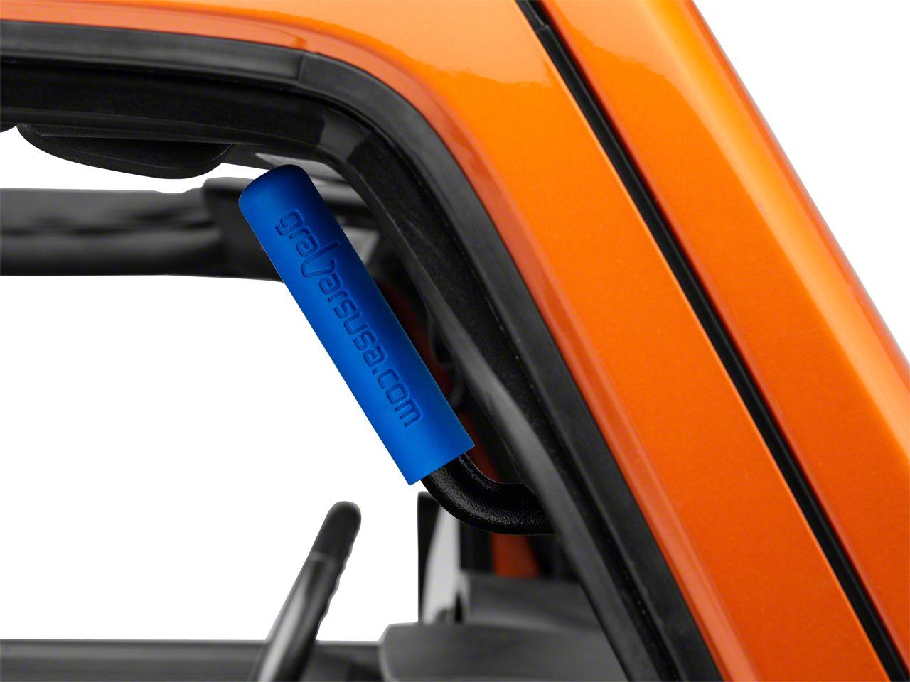 GraBars Front Grab Handles w/ Blue Grips (07-18 Jeep Wrangler JK)