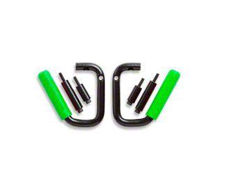 GraBars Front Grab Handles w/ Green Grips (07-18 Jeep Wrangler JK)