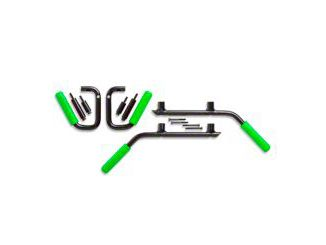GraBars Front & Rear Grab Handles w/ Green Grips (07-18 Jeep Wrangler JK 2 Door)