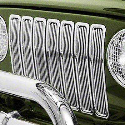 Rugged Ridge Billet Grille Inserts - Chrome (97-06 Jeep Wrangler TJ)