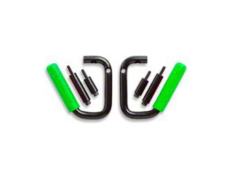 GraBars Front Grab Handles w/ Green Grips (97-06 Jeep Wrangler TJ)