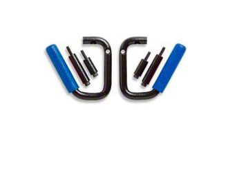 GraBars Front Grab Handles w/ Blue Grips (87-95 Jeep Wrangler YJ)