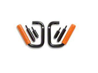 GraBars Front Grab Handles w/ Orange Grips (87-95 Jeep Wrangler YJ)