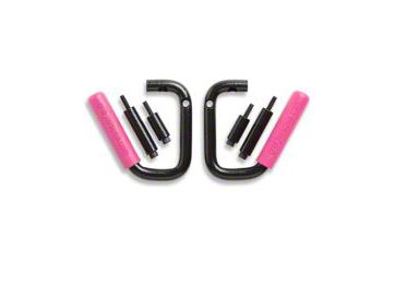 GraBars Front Grab Handles w/ Pink Grips (87-95 Jeep Wrangler YJ)