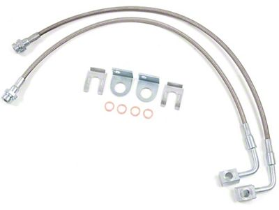 Zone Offroad Rear Stainless Brake Lines for 4-6 in. Lift (07-18 Jeep Wrangler JK)