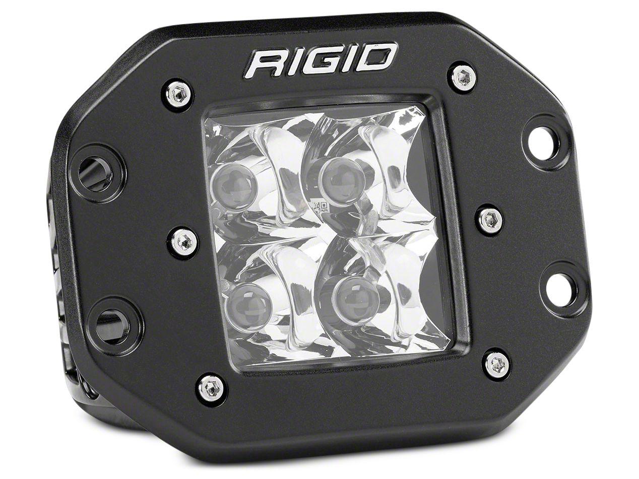 Rigid Industries D-Series Flush Mount LED Cube Light - Spot Beam