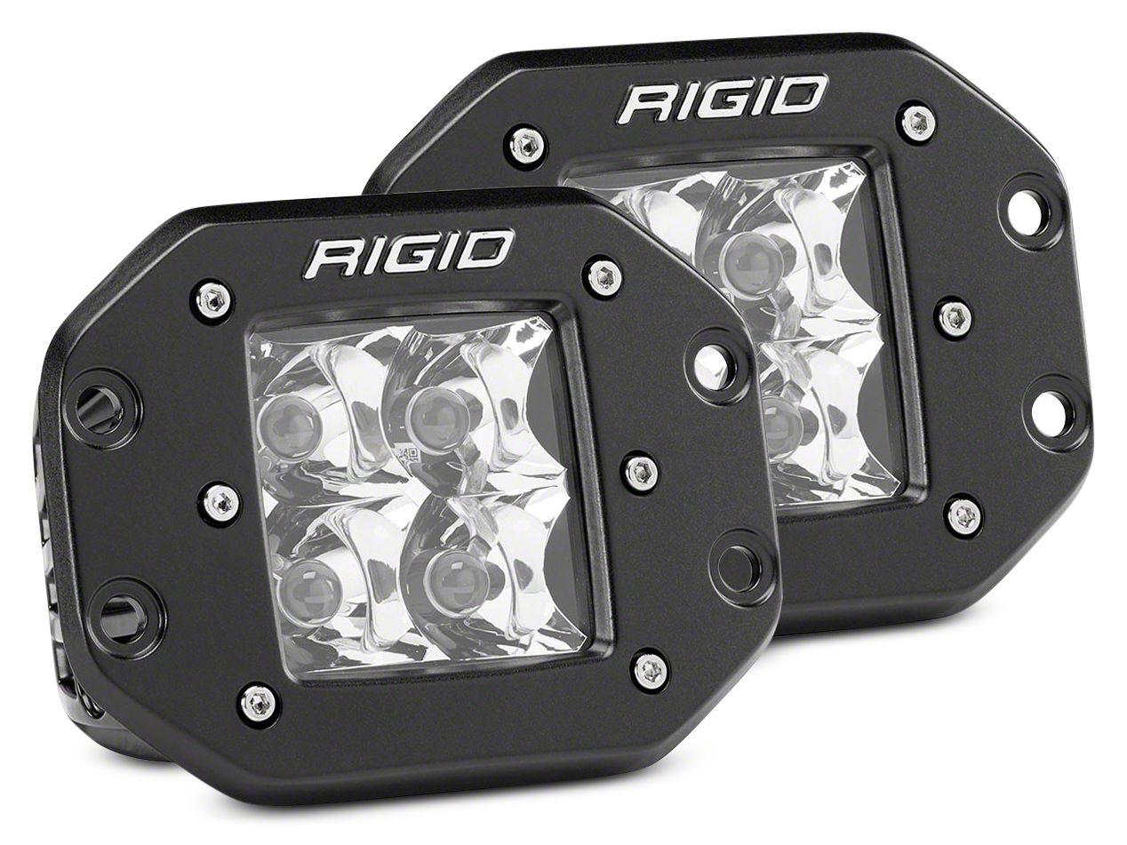 Rigid Industries D-Series Flush Mount LED Cube Lights - Spot Beam - Pair