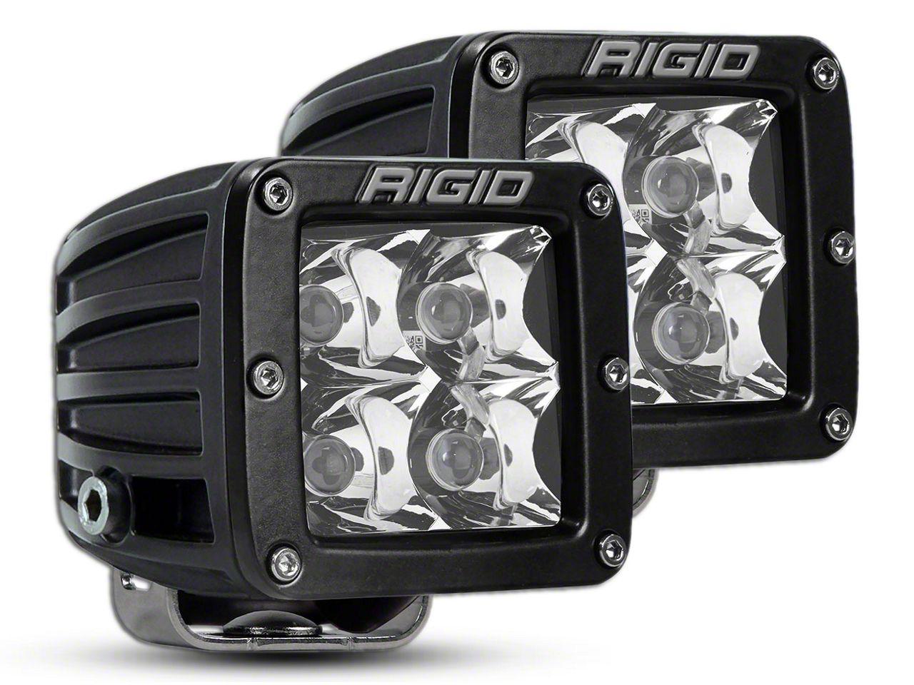Rigid Industries D-Series HD Amber LED Cube Lights - Spot Beam - Pair