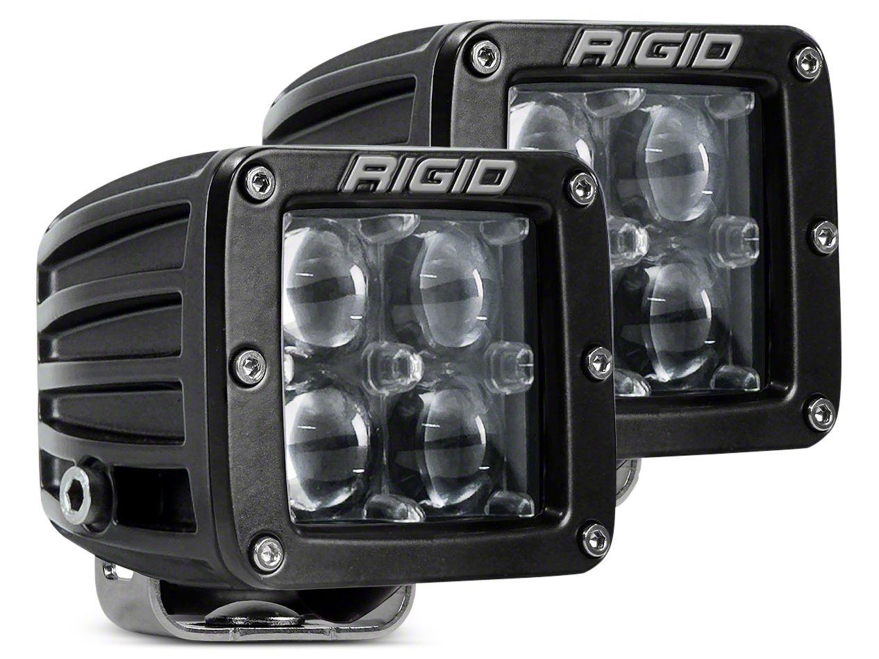 Rigid Industries D-Series LED Cube Lights - Hyperspot Beam - Pair