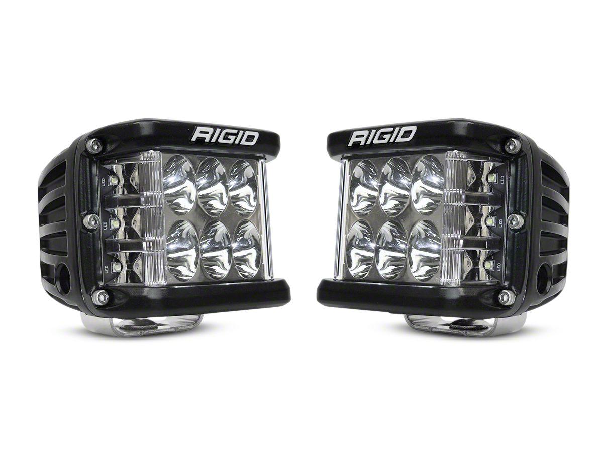Rigid Industries D-SS Side Shooter Cube Lights - Driving Beam - Pair