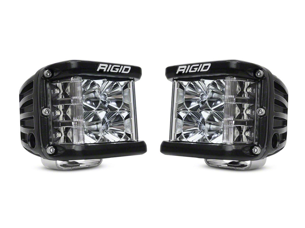 Rigid Industries D-SS Side Shooter Series LED Cube Lights - Flood Beam - Pair