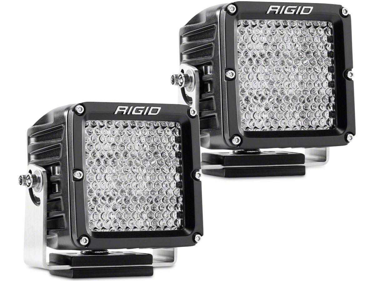 Rigid Industries Dually XL Series LED Cube Lights - 60 Deg. Diffused Beam - Pair