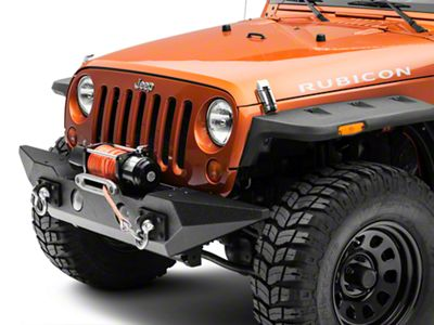 Rugged Ridge Spartan Front Bumper w/ Standard Ends w/o Over Rider (07-18 Jeep Wrangler JK)