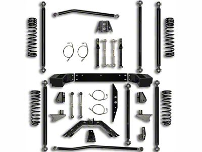 Rock Krawler 2.5 in. Off-Road Pro Long Arm Suspension Lift Kit w/ 6 in. Stretch (07-18 Jeep Wrangler JK 2 Door)