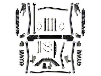 Rock Krawler 3.5 in. Coilover Long Arm Suspension Lift Kit w/ 6 in. Stretch - Stage 1 (07-18 Jeep Wrangler JK 2 Door)