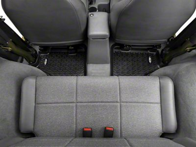 Rugged Ridge All Terrain Rear Floor Mats - Black (97-06 Jeep Wrangler TJ)