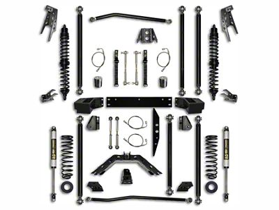 Rock Krawler 3.5 in. Off-Road Pro Coilover Long Arm Suspension Lift Kit - Stage 1 (07-18 Jeep Wrangler JK 2 Door)