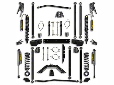 Rock Krawler 3.5 in. Off-Road Pro Coilover Long Arm Suspension Lift Kit - Stage 2 (07-18 Jeep Wrangler JK 2 Door)